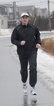 Newbury: Eric Steeves of Plum Island will be running the Boston Marathon. Jim Vaiknoras/Staff photo