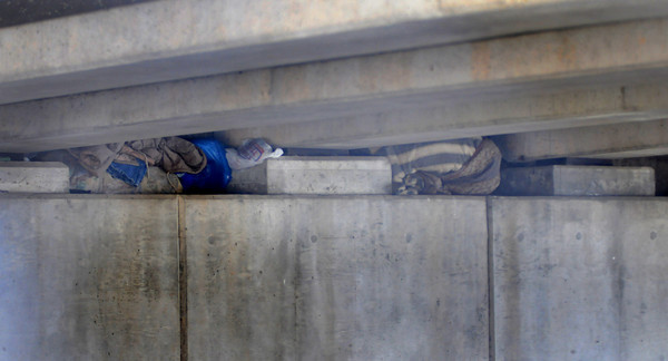 Newburyport: Spot under the Gillis Bridge in Newburyport where several homeless men live. Jim Vaiknoras/Staff photoa