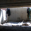 Newburyport: Spot under the Gillis Bridge in Newburyport where several homeless men live. Jim Vaiknoras/Staff photoa