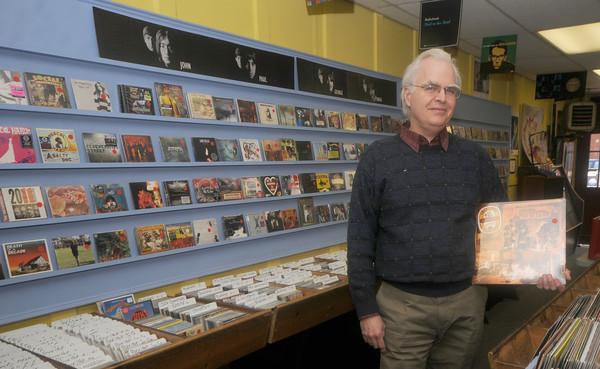 Newburyport: Richard Osborne owner of Dyno Records in Newburyport. Jim Vaiknoras/Staff photo