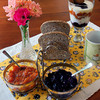 Newburyport: Apricot and Blueberry Jam with toast, and a parfait with both. Bryan Eaton/Staff Photo