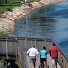 Newburyport: Newburyport's Clipper City Rail Trail and Harborwalk, here approaching Cashman Park, was a popular spot yesterday morning. The nice weather continues into the Labor Day weekend. Bryan Eaton/Staff Photo