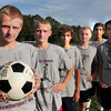 Newburyport: Newburyport High soccer team brothers, Spencer and Adam Traxler, Allan Eagan (his brother Matt not present for photo) and Jordy Steelman, Zaid Eideh and Andrew Orlando who had brothers on the team who have graduated. Bryan Eaton/Staff Photo