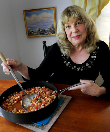 Newburyport: Paula Jorgenson with her White Bean and Turkey Chili. Bryan Eaton/Staff Photo