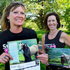 West Newbury: Heather Berns, left, and Lori Elwell with calender called Heroes of Hope to raise money for breast cancer. Bryan Eaton/Staff Photo