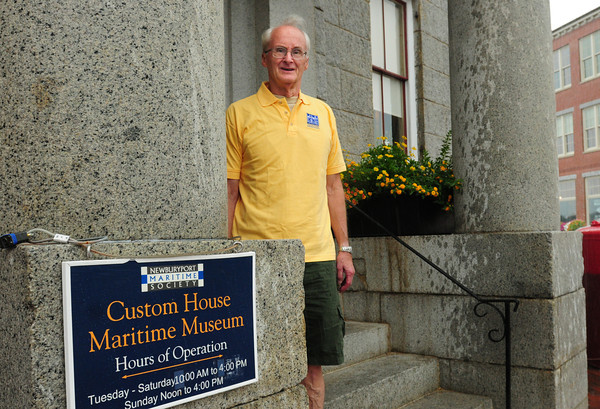 Newburyport: Keith Manville, chairman of the board of directors of the Custom House Maritime Museum. Bryan Eaton/Staff Photo