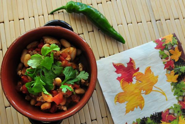 Newburyport: Paula Jorgenson's White Bean and Turkey Chili. Bryan Eaton/Staff Photo