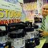 Newburyport: Pete Kelley, owner of Kelly's True Value Hardware has sold dozens of these battery-powered lanterns and ran out of batteries as of yesterday afternoon with more supplies coming in this morning. Bryan Eaton/Staff Photo
