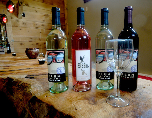 Rowley : Some of the wines at the Mill River Winery in Rowley. Jim Vaiknoras/Staff photo