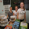 newburyport: Owner of Sip on Inn Street , Tammy Kennelly, with her crew daughter Meagan Kennelly and Lydia Jones. Jim Vaiknoras/Staff photo