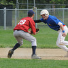 Rowley: Rockport pitcher Derek McDowell tags out Rowley's during their game at Eiras Field in Rowley Saturday. Jim Vaiknoras/Staff photo