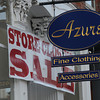 Newburyport: Store Closing sign at Azure's on State Street in Newburyport. Jim Vaiknoras/Staff photo