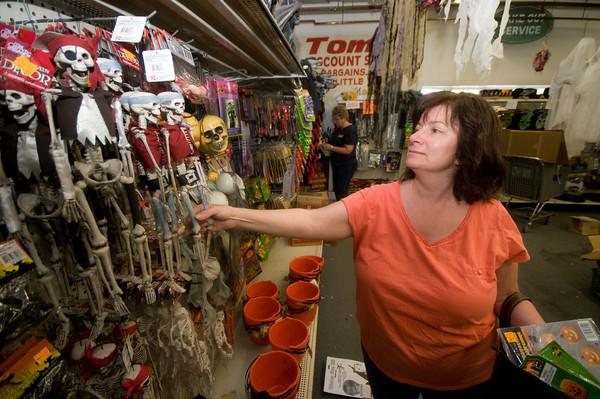 Salisbury: Tamra Tunam shops for Halloween items at Tom's Discount Store in Salisbury. Jim Vaiknoras/Staff photo