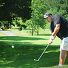 Newbury: Jeff Maguire of Newburyport putts on the ninth hole in the Yankee Homecoming Golf Tournament at Ould Newbury Country Club. Bryan Eaton/Staff Photo