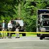 Seabrook: State and Seabrook police investigate a scene at 56 Mill Lane where a woman was injured and taken to a Boston hospital on Monday. Bryan Eaton/Staff Photo