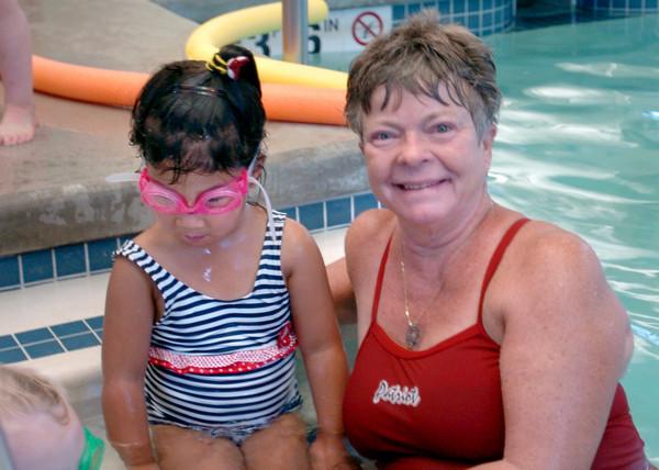 Newburyport: Vicki Haley, with Mariah Boys, 5, of Newburyport is a children's swim instructor at the YWCA. Bryan Eaton/Staff Photo