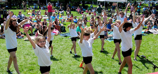 Newburyport: Students of Kathy's Tumbleweed in Salisbury perform in the Kids Talent Showcase. Bryan Eaton/Staff Photo