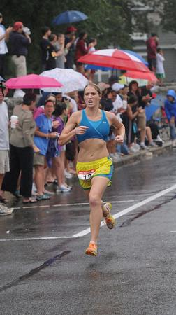Newburyport: Woman's winner Stephanie Pezzullo at the High Street Mile JIm Vaiknoras/Staff photo