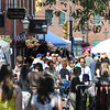 Newburyport:Shoppers crowd Inn Street for the annual Yankee Homecoming Sidewalk Sales. Jim Vaiknoras/Staff photo