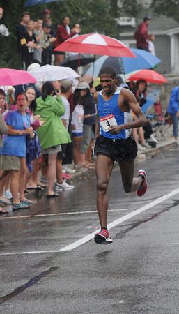 Newburyport: Abyiot Endale wins the High Street Mile. Jim Vaiknoras/Staff photo