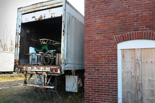 Amesbury: Carriages are now stored in two tractor-trailer units next to the Carriage Museum in Amesbury's Lower Millyard. Bryan Eaton/Staff Photo