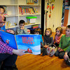Newburyport: Heather DePaolo reads to youngsters in the Children's Room of the Emma Andrews Library. Bryan Eaton/Staff Photo