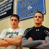 Byfield: Triton High wrestlers Ryan Clay, left, and Bryan Giblin. Bryan Eaton/Staff Photo