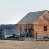Byfield: A building is under construction at Manter Field on Central Street in Byfield which will be a weather shelter and equipment storage for the athletic fields there. Bryan Eaton/Staff Photo