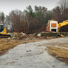 Newbury: The Harbor Schools buildings on Rolfe's Lane in Newbury has been torn down. Bryan Eaton/Staff Photo