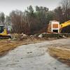 Newbury: The Harbor Schools buildings on Rolfe's Lane in Newbury has been torn down. Bryan Eaton/Staff Photo