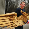 West Newbury: Chris Wile completed this carving that his father started in 1977. Bryan Eaton/Staff Photo