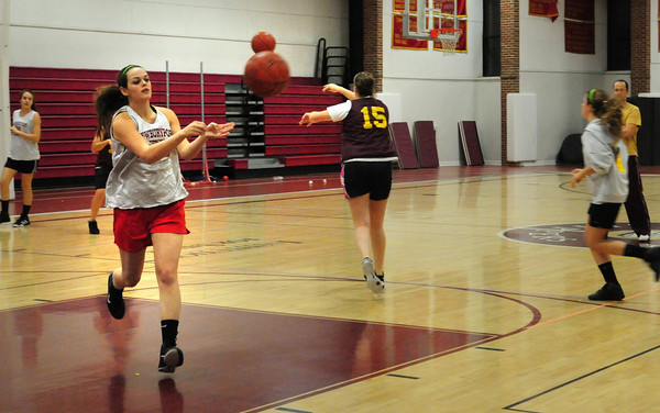 Newburyport: Newburyport girls basketball team started practice yesterday afternoon. Bryan Eaton/Staff Photo
