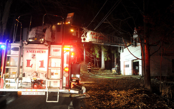 Amesbury: Amesbury fire department respond to a fire on Este Road. staff photo