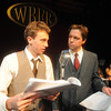 "Newburyport:Max Vye and Scott Smith in ""It's a Wonderful Life"" dress rehearsal at the Firehouse. Jim Vaiknoras/staff photo"