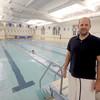 Newburyport: New coach of YWCA Breakers Scott Moulton at teh Y pool in Newburyport. Jim Vaiknoras/staff photo
