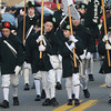 Merrimac: Jeremy Scanlan, Chip Black, Meg Dame and Greta Rigdin march with the Middlesex County 4th Fife and Drum Corps in the annual Merrimac Santa Parade Sunday afternoon. Jim Vaiknoras/staff photo