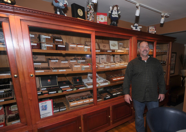 Rowley:  Gary Tamilio at his new store , The Tobacco Shack on Rt1 in Rowley. Staff photo
