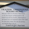 Newburyport: Sign on the Frazier, Green, Rogers home on Green Street in Newburyport. Jim Vaiknoras/staff photo