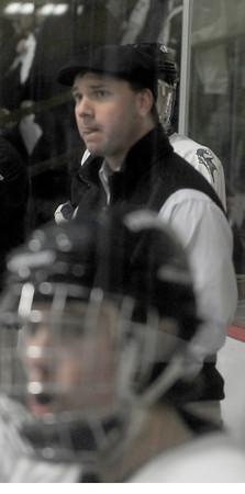 Newburyport: Triton coach Drew Wile at the Graf Rink in Newburyport. Jim Vaiknoras/staff photo