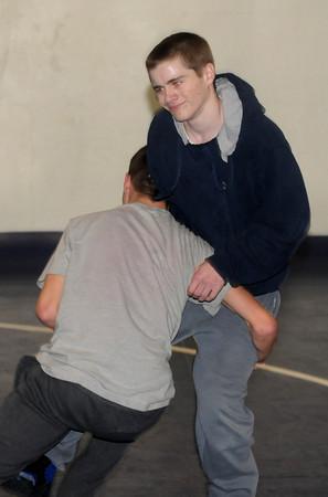 Georgetown: Georgetown's Luke Rabel spars with teammate Michael Mahar of Ipswich . Jim Vaiknoras/staff photo