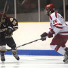 Haverhill: Newburyport's Ben Ventura makes a move of Masco's Alec Digiorgio during their game at the Valley Forum in Haverhill. Jim Vaiknoras/staff photo