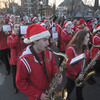 Amesbury: The Amesbury high school band performs during Saturday's Amesbury Christmas Parade. Jim Vaiknoras/staff photo