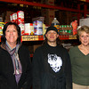 Amesbury: Carol Sheehan, left, Tim Macura, center, and Nancy Armeen, right, stand with some of the food items collected by their employer, Shaheen Bros. in Amesbury, for donation to the Pettingil House. Photo by Ben Laing/Staff Photo