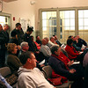 Salisbury: A large crowd gathers at Salisbury Town Hall Monday night as the Town Council allowed comments on the St. Pierre Report regarding former Police Chief L'esperance. Photo by Ben Laing/Staff Photo