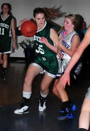 Georgetown: Pentucket's Tori Lane runs into Georgetown defender Kylie Troy. Bryan Eaton/Staff Photo