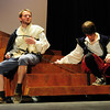 "Newburyport: Sam Moore as Romeo, left, and Jordan Dunnpilz as Benvolio rehearse ""Romeo and Juliet"" in the upcoming production at Newburyport High. Bryan Eaton/Staff Photo"