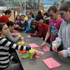 Amesbury; Students at Amesbury Middle School sign pledges against bullying in the cafeteria on Monday morning. It's non-bullying week at Amesbury. Mary O'Connor/Staff Photo