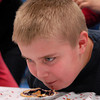 Seabrook; Ryan Wilson, a 10-year-old student at Seabrook Elementary School, participates in pie eating contest in the cafeteria. It's carnival week at Seabrook, and each day different events are featured during lunch time. Mary O'Connor/Staff Photo