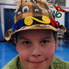 Seabrook; Binky Perkins, a student at Seabrook Elementary School, homemade his hat for crazy hat day. It's carnival week at Seabrook, and a different theme is featured daily. Mary O'Connor/Staff Photo