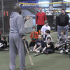 Salisbury:Cleveland Indians hitting instructor Jon Nunnally leads a hitting clinic, sponsored by CoreAthletics, at Extra Innings in Salisbury Saturday afternoon. Jim Vaiknoras/Staff photo